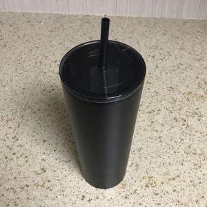 Venti matte black starbucks cup